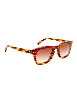 Clark Striped Havana - Gradient Brown Lenses