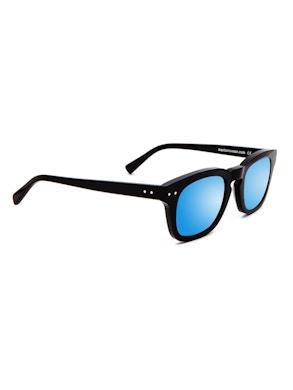 Clark Black - Gradient Blue Mirror Lenses