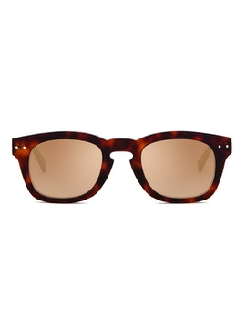 Clark Dark Havana - Gradient Gold Mirror Lenses