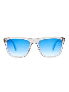 Jordan Crystal Grey - Gradient Blue Mirror Lenses