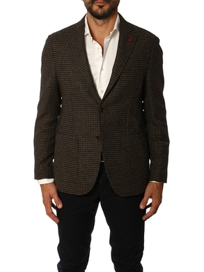 Grey brown microdesign jacket