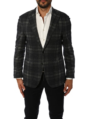 Grey and blue double overcheck jacket